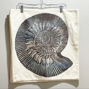2 POTTERY BARN NAUTILUS SHELL Pillow Cover